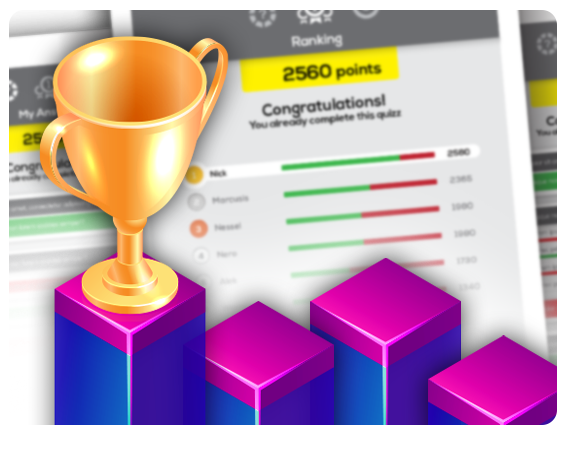 Create learning games and quizzes and check the results instantly